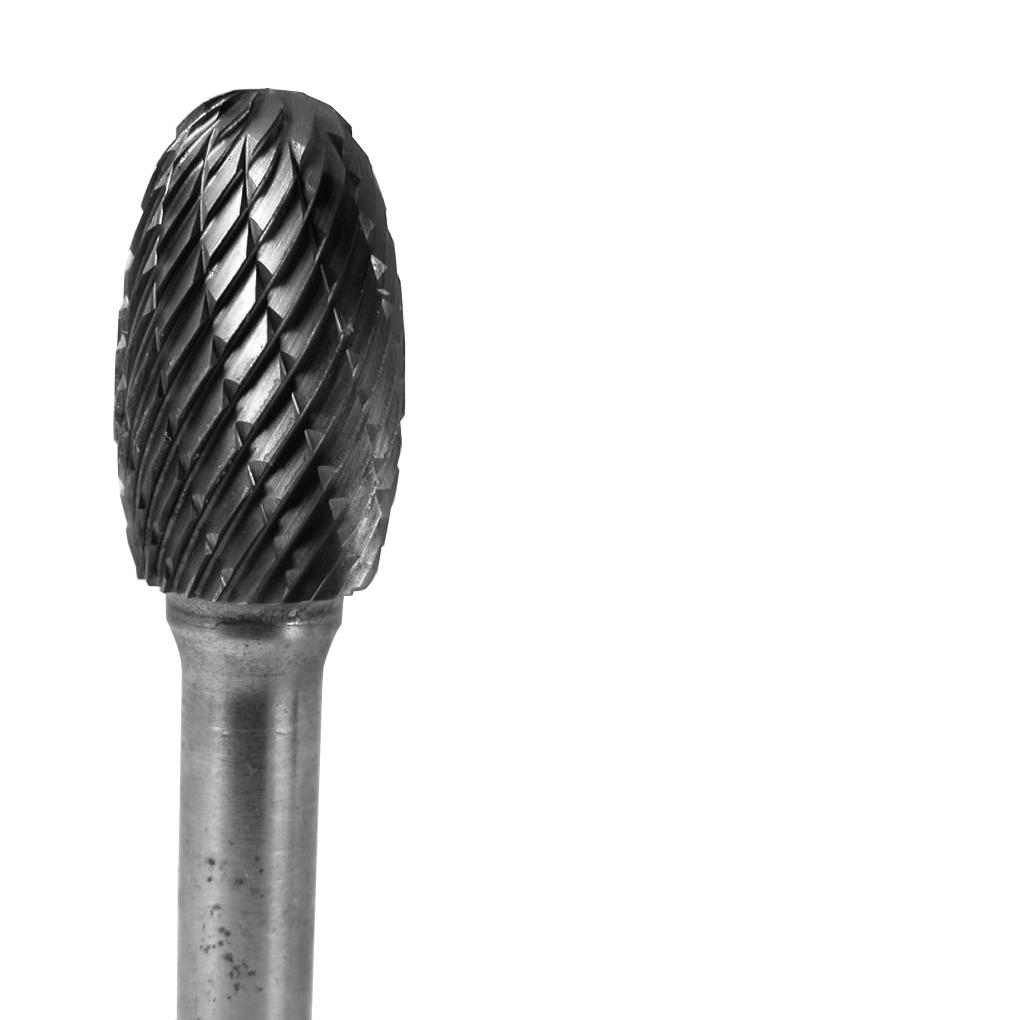 Grobet CARBIDE BUR USA MADE OVAL   1/2X7/8X1/4  6 INCH LONG SHANKS     DOUBLE CUT at Sears.com
