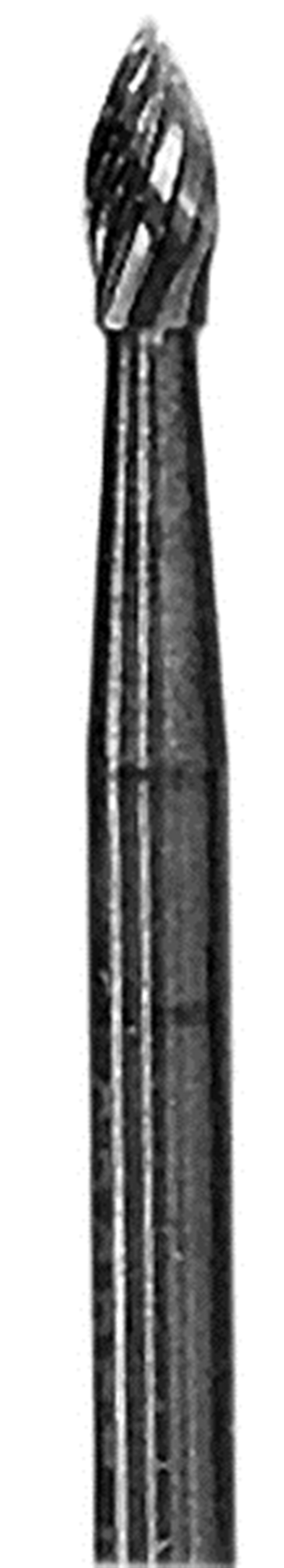 Grobet CARBIDE BUR USA MADE FLAME  1/8X1/4X1/8    STANDARD CUT at Sears.com